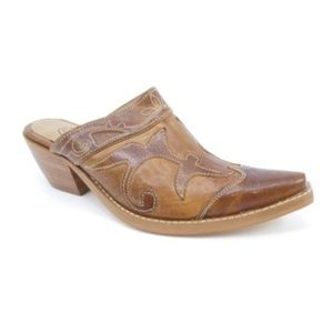 Durango Hand Stained Leather Western Mule Booties